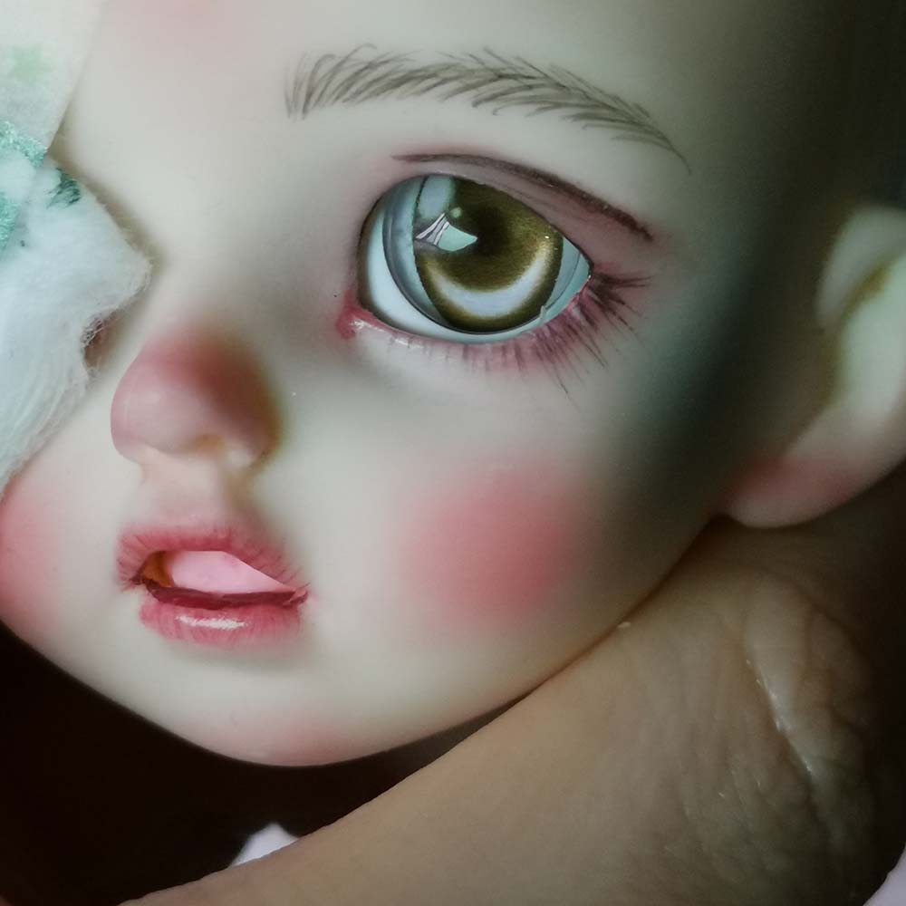 Colorfull Blue Pupil/&Iris 16mm Glass Eyes for Joint Reborn 1//4 BJD Dollfie