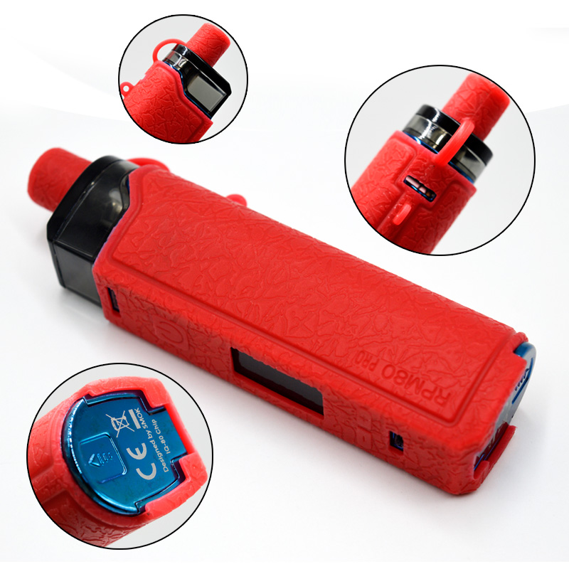 For Rpm80 Pro Protective Silicone Case Cover Skin Decal Wrap 510 Adapter For Smok Rpm80 Pro Kit