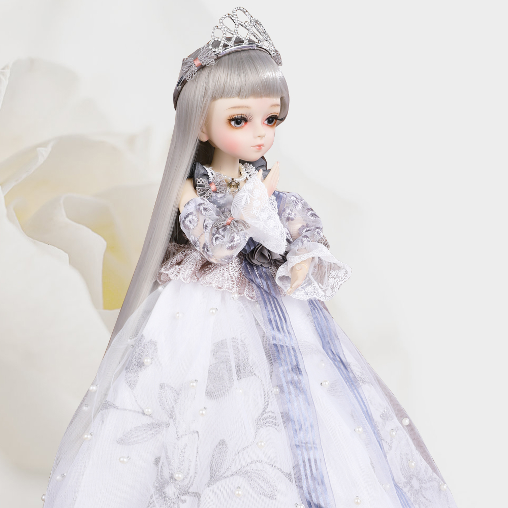<font><b>BJD</b></font> Doll 45CM <font><b>1/4</b></font> SD Girls Dolls With Full Outfits Makeup Royal Style Dress Shoes Toys For Girls Collection image