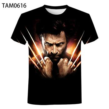 Wolverine 2021 nowy druk 3D para europa i ameryka moda T-Shirt dzieci Hip hop oddychający krótki rękaw Street Top tanie i dobre opinie Na zakupy SHORT CN (pochodzenie) COTTON POLIESTER Na wiosnę i lato Na co dzień Z okrągłym kołnierzykiem tops Z KRÓTKIM RĘKAWEM