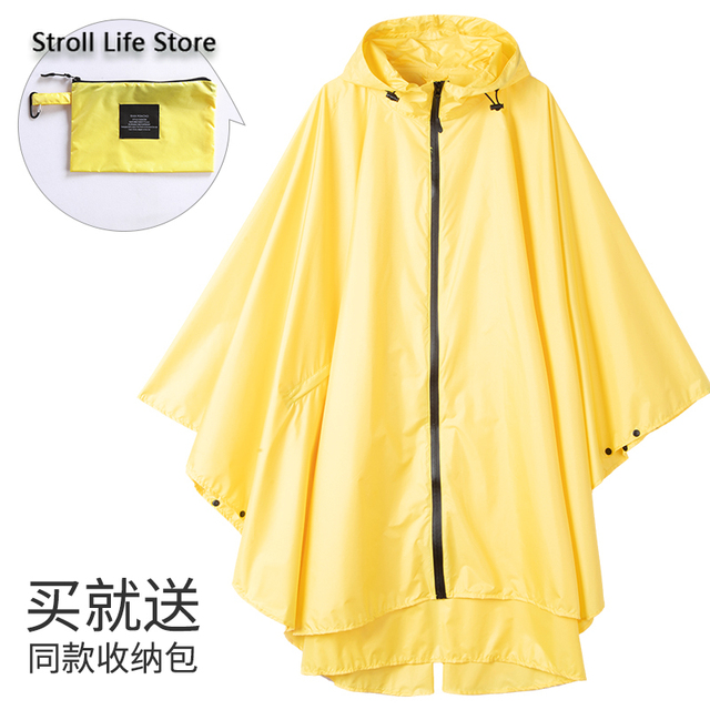 Large Size Trench Rain Coat Poncho Raincoat Women Yellow Rain Clothes Cover Travel Hiking Windproof Suit Gabardina Mujer Gift