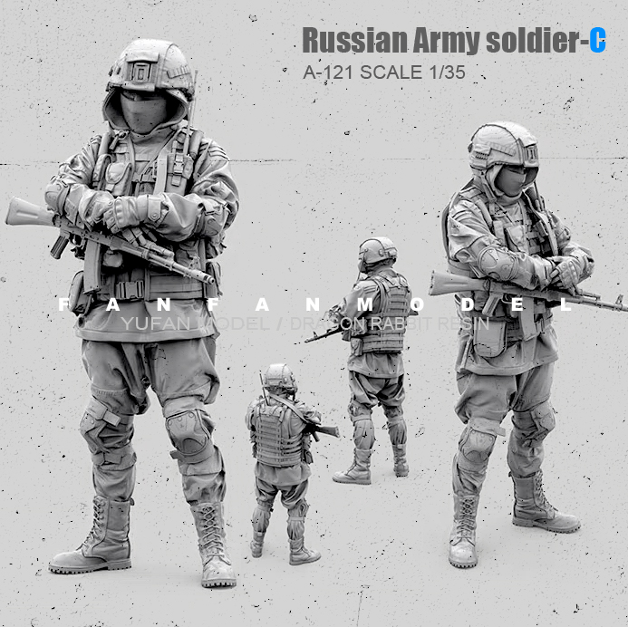 1/35(50mm) Resin Figure Kits Russian Modern Special Forces Soldier Self-assembled  A-121