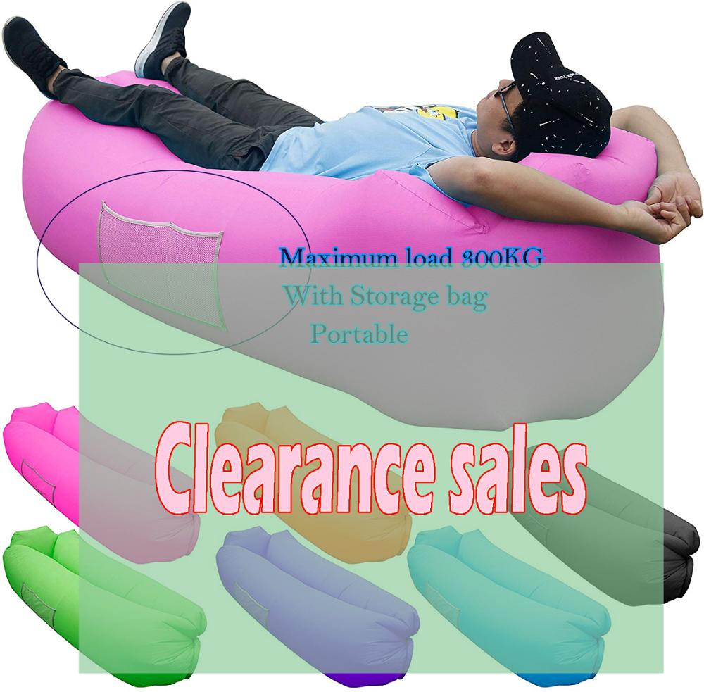 Inflatable Lounger Air Sofa Portable Water Proof Anti-Air Leaking & Pillow-Shaped Designed Couch  Lazy Bag2020 Trend Products