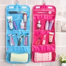 Viajar saco de maquiagem saco de cosméticos compõem sacos de lavagem de embalagem necessaries storag organizador bolsa pendurado gancho de higiene pessoal