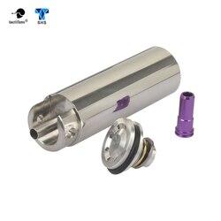 SHS Tune Up Kit de acero inoxidable CNC molido de una pieza cilindro sólido incorporado cabeza de cilindro cabezal de pistón boquilla Airsoft Paintball