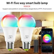 Светодиодная лампа с wi fi умная поддержкой alexa google home