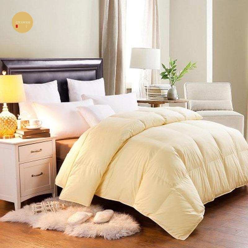 100% гусиный/утиный пух тёплое одеяло хлопковое покрытие для