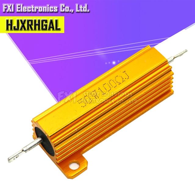 50W 100W Aluminum Power Metal Shell Case Wirewound Resistor 0.01R ~ 100K 1 6 8 10 20 200 500 1K 10K ohm resistance RX24 Igmopnrq 3