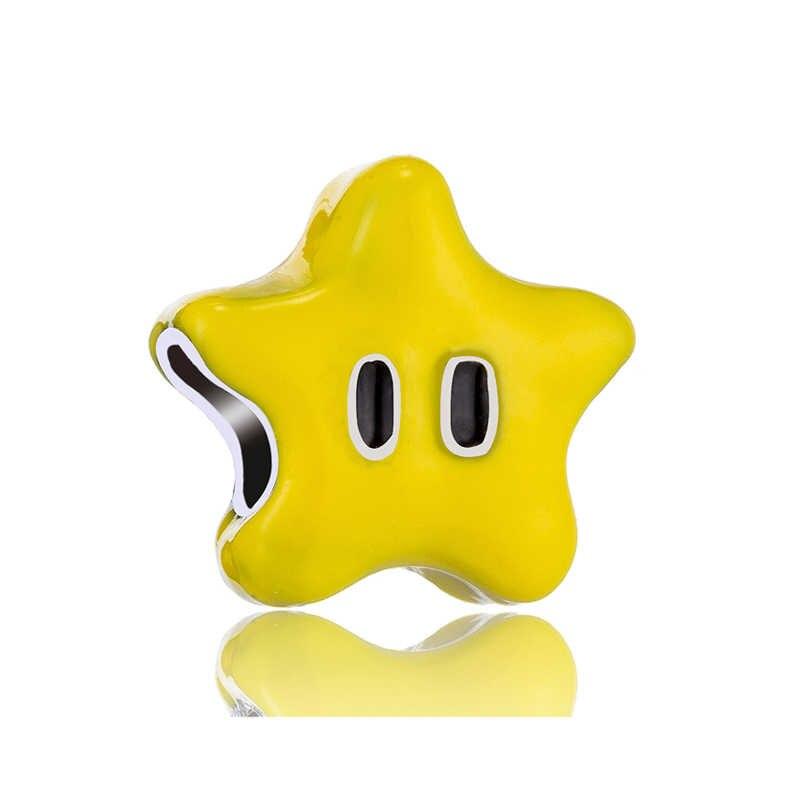 マキシ星の心花ムーンロック 7 星てんとう虫ペンダントビーズフィットパンドラチャームブレスレット女性ガール DIY 小物