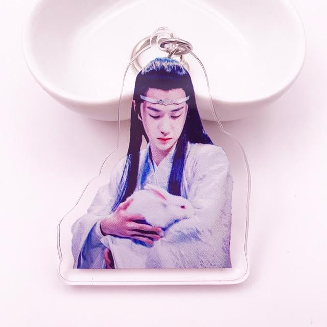 Untamed Keychain Grandmaster of Demonic Cultivation Lan Wangji Wei Wuxian Acrylic Key Chain Mo Dao Zu Shi Keyring Llaveros K0140