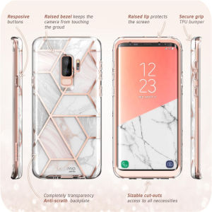 Image 4 - I BLASON For Samsung Galaxy S9 Plus Case Cosmo Full Body Glitter Marble Bumper Protective Cover with Built in Screen Protector