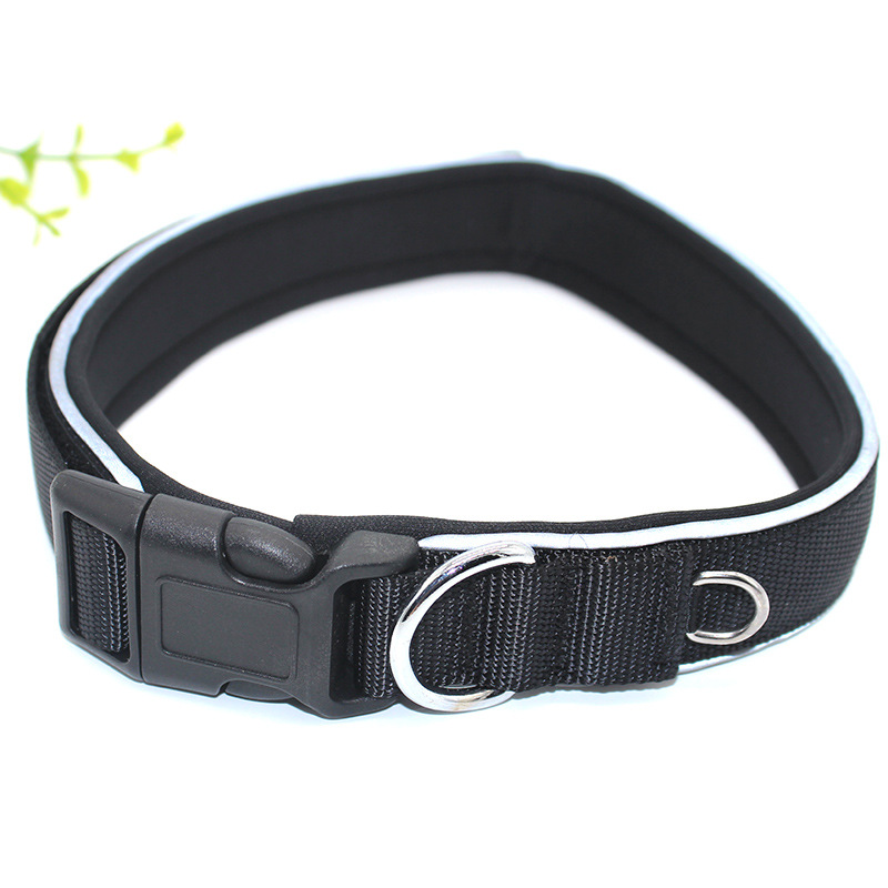 Foreign Trade Supply Of Goods Manufacturers Direct Selling Big Dog Reflective Nylon Collar Pet Supplies Dog Traction Quality Ass