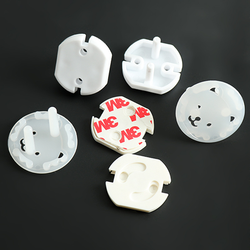 10pc EU Power Socket protective wall Switch kids safety plug Plastic Thicken Anti Electric Children Lock home Equipment Supplies