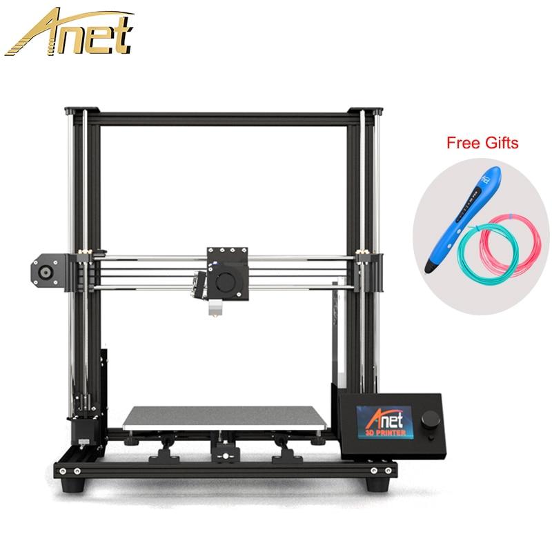 Anet A8 Plus FDM 3D imprimante kit de bricolage taille d'impression 300x300x350mm haute qualité buse impresora 3d imprimante avec stylo 3d de moscou