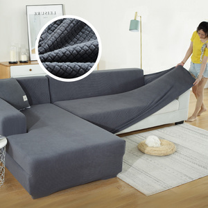 Thicken Elastic Sofa Cover Spandex Modern Polyester Corner Sofa Couch Slipcover Chair Protector Living Room 1/2/3/4 Seater