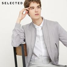 SELECTED Mens Linen Splice Coat Autumn & Winter Baseball Collar Jacket Clothes C