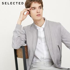 Image 1 - SELECTED Mens Linen Splice Coat Autumn & Winter Baseball Collar Jacket Clothes C