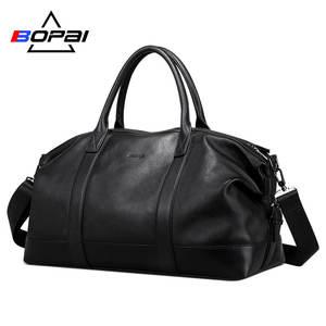BOPAI Duffle-Bags Weekend Travel Unisex Soft Men Top-Layer