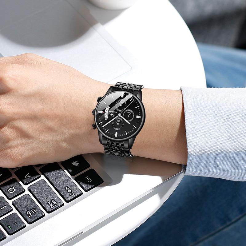 NEKTOM Watches Men Fashion Top Brand Luxury Sport Stainless Steel Band Male Watch Quartz Clock Business Wristwatch Reloj Hombre