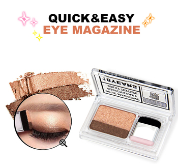 1PC 2 Colors Matte Shimmer Eye Shadow Lazy Eyeshadow Korean Style Cosmetics Stamp Palette Nude Makeup Cosmetics Set Tool