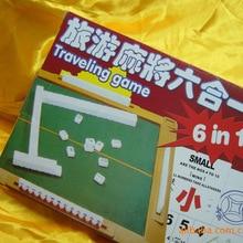 Mini Mahjong Six-in-One Carving Small Mahjong Plexiglass Mahjong Mini Portable Travel Mahjong