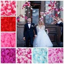 100 sztuk 5*5CM jedwabne płatki róż do dekoracji ślubnych romantyczny sztuczny kwiat róży akcesoria ślubne