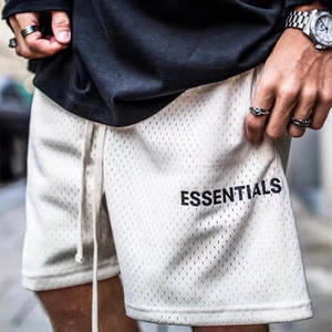 Mesh Essentials Boxy FOG Shorts Men Wome 1:1 High-Quality Fashion Essentials Shorts