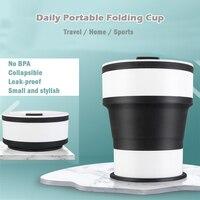 550 мл силиконовая складная чашка для спорта на открытом воздухе, портативная дорожная чашка, выдвижная ручная чашка, силиконовая кофейная ч...