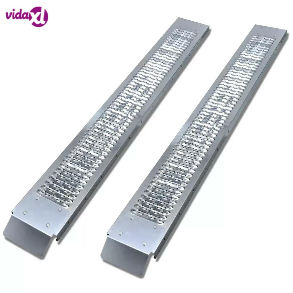 VidaXL 2 Pcs Steel Loading Ramp 450 Kg Suitable For Loading And Unloading ATVs, Quads, Mobility Scooters, Golf Carts
