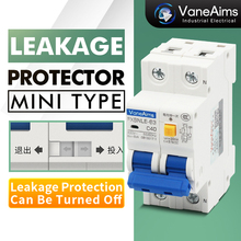 цена на Household leakage protector AC220V 20A32A40A63A 30mA closeable small protection switch AC leakage circuit breaker