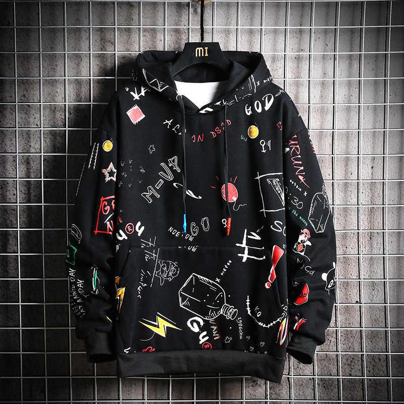Chaifenko Mannen Herfst Hoodies Mannen Lente Anime Graffiti Sweatshirt Mannelijke Hip Hop Harajuku Japanse Streetwear Casual Hoodie Mannen