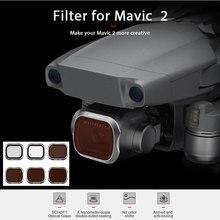 עדשת מסנן עבור DJI MAVIC 2 פרו Drone אביזרי אור משקל ניטראלי צפיפות קיטוב UV CPL ND4 8 16 32 מצלמה מסנן