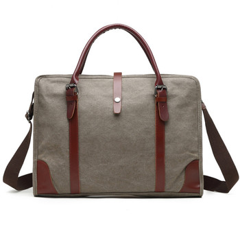 Messenger Laptop Bag Briefcase Bag 15.6 Inch Laptop Messenger Bag Business Office Computer Briefcase For Men Vintage