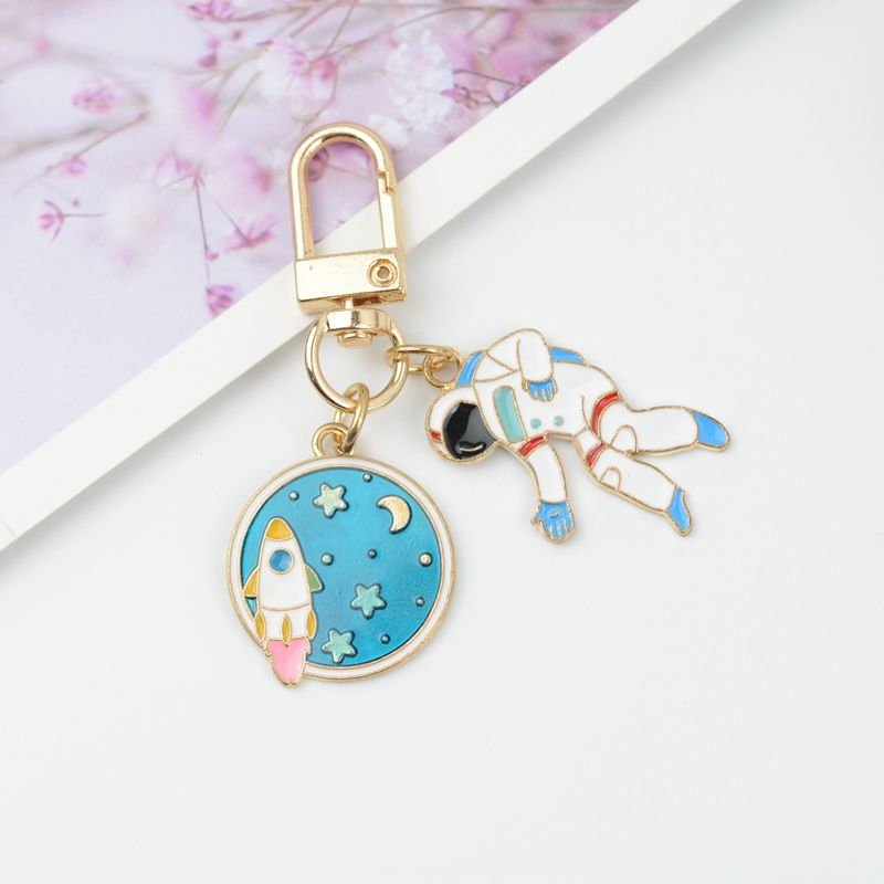 Car Keychain Pendant Astronaut Women Key Chains Ring Car Bag Pendant Charms Airpods Accessories