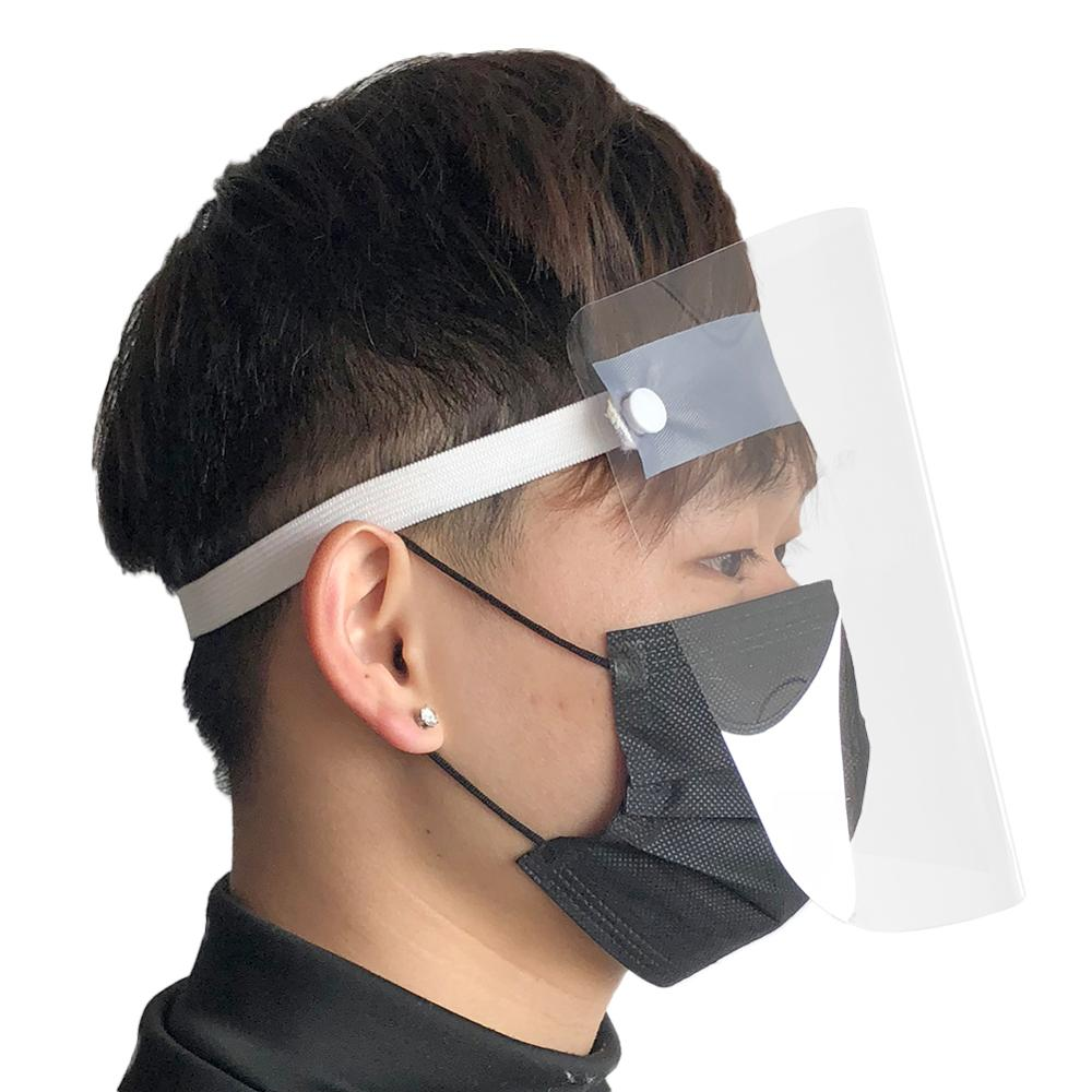 1/2/4PC Full Face Shield Mask Clear Flip Up Visor Protection Safety Work Guard For Droplet, Dust,Oil Fume