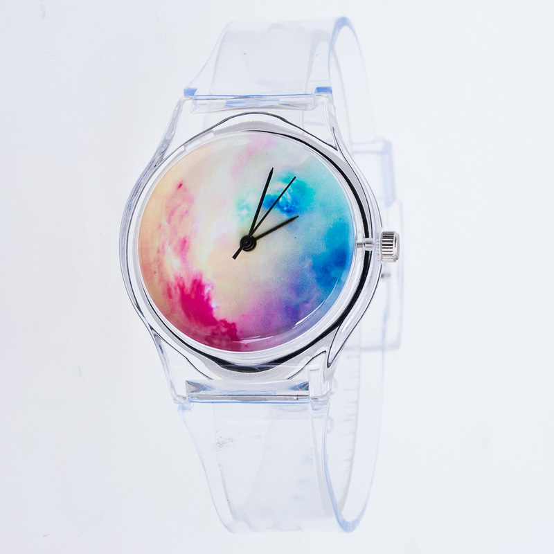 Transparent Starry Sky Watches Women Sport Casual Quartz Wristwatches Novelty Crystal Ladies Cartoon Mujer Relogio Feminino