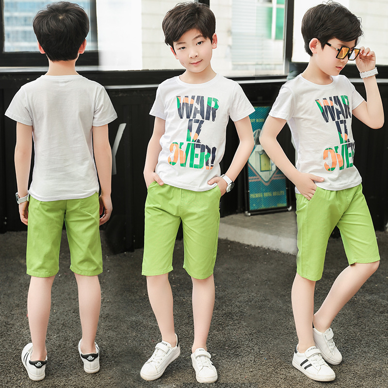 Verão crianças roupas roupas de algodão meninos