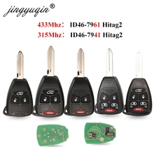 315/433Mhz ID46 Remote Car Key Entry Transmitter for Dodge RAM JEEP Commander Compass Grand Cherokee Liberty Wrangler Chrysler