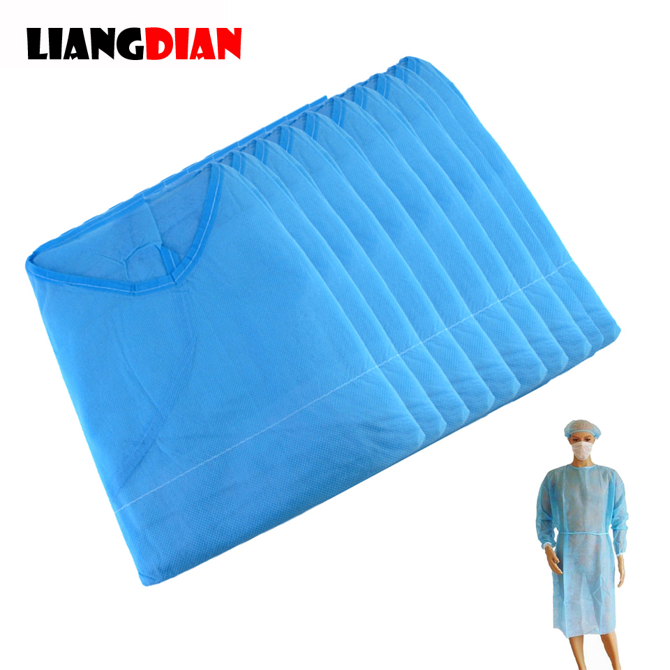10pcs/lot Disposable Aseptic Surgical Woven Gown Dust Operation Coat Clothes Clothing Tattoo Accessories For Eyebrow Lips Makeup