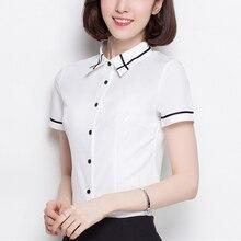 Women Shirts Elegant Women White Shirt Plus Size Korean Fash