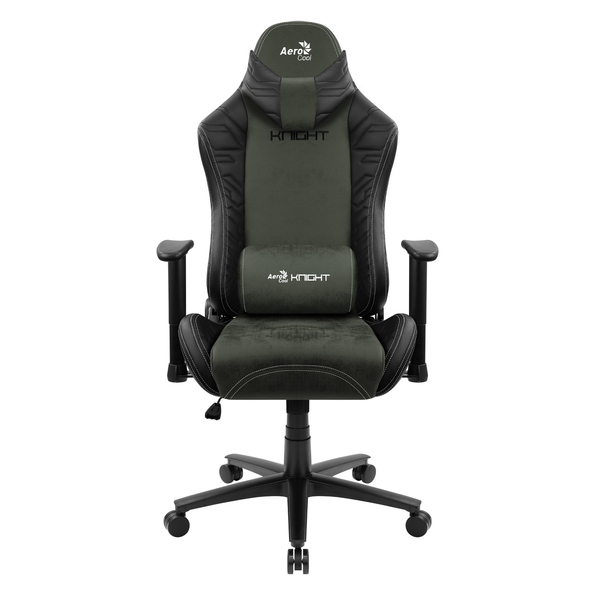 Aerocool KNIGHT, Gaming Chair, AeroSuede Breathable, Backstop Adjustable, Green