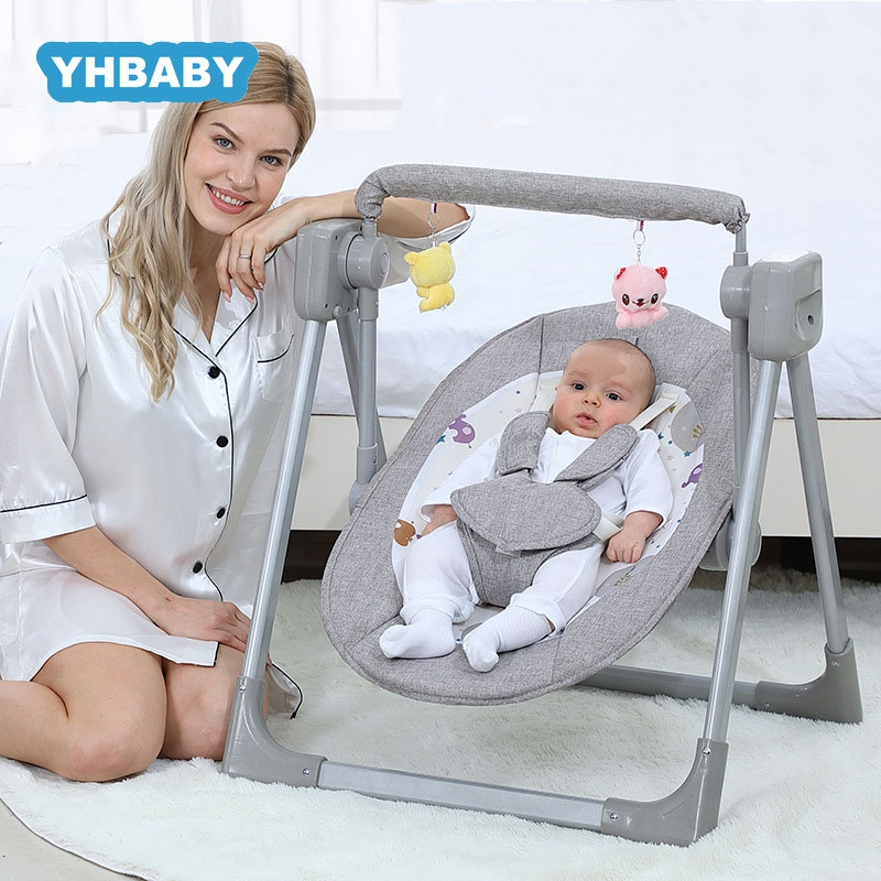 Baby Swing Intelligent Electric Rocking Chair Newborn Cradle Aluminum alloy Baby rocking chair Home v3 VC