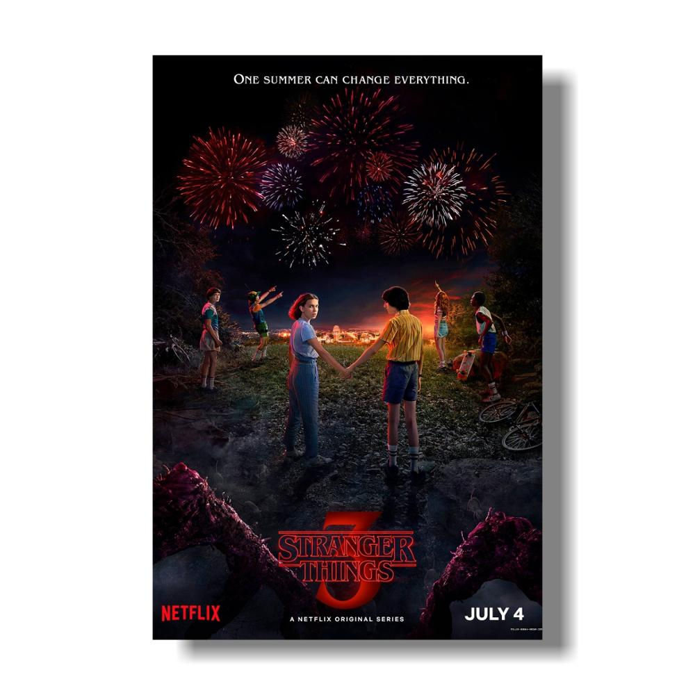 TV Series Stranger Things Silk Poster Season 3 Eleven Posters Wall Art Prints Kids Room Decor Fantasy Silk Pictures image