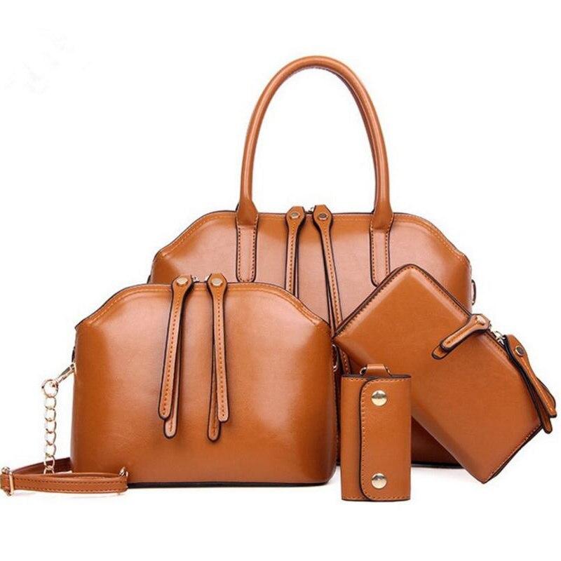 4 Pcs/Sets Women Handbags Set Crocodile Pattern Composite Bag Messenger Bags Purse Wallet PU Leather Shoulder Bags bolsos XN06|Shoulder Bags| - AliExpress