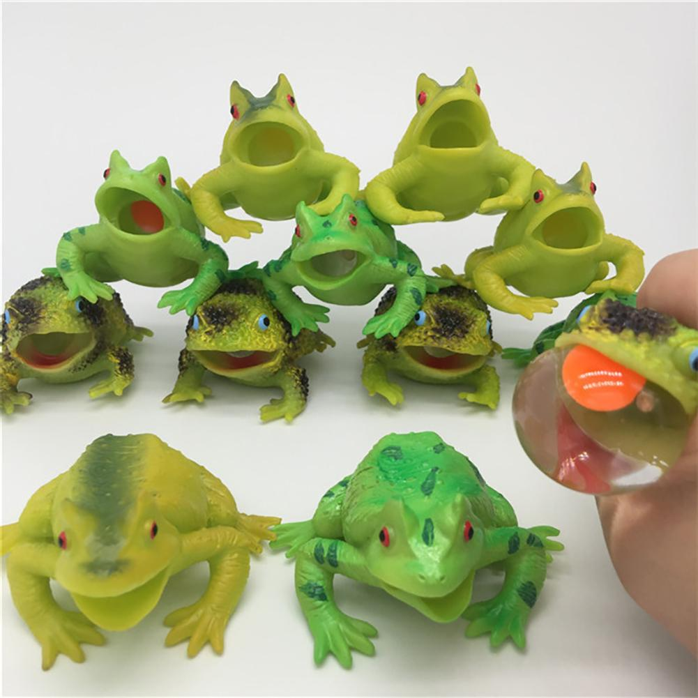1 Pcs Cute Animal Frog Toad Relieve Stress Squeeze Relief Anxiety Kids Adult Toy Decor Gifts