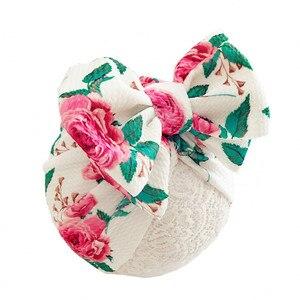 Novo inverno chapéu do bebê para meninas grande arco outono turbante boné do bebê fotografia adereços infantil beanie bebê menina chapéu acessórios