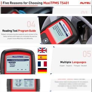 Image 4 - Autel MaxiTPMS TS401 Della Pressione Dei Pneumatici Sistema di Monitoraggio OBD2 TPMS Diagnostico Scanner Strumento di Attivare 315 Sensore di 433MHZ di Programmazione