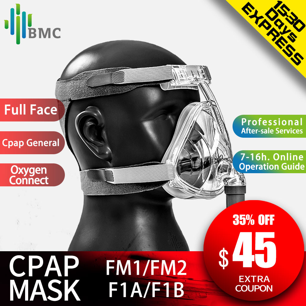 BMC FM1/FM2/F1A/F1B Full Face Mask For Snoring Apply To Medical CPAP BiPAP Ventilator Size S/M/L with Headgear Free Shipping(China)