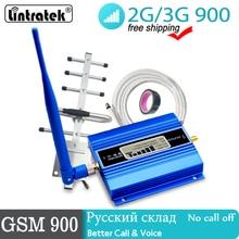 lintratek gsm 900 репитер сигнала усилитель сотовой связи ЖК дисплей Мобильный телефон сотовая связь сигнала повторитель сиг