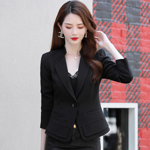 2020 New Women Elegant Blazer And Ladies Jackets Spring Autumn Trend Three Quarter Age 18-35 Years Old Office Lady Single Button